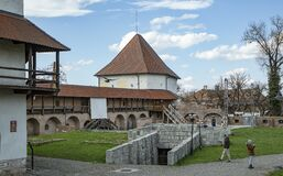 Inside the medieval fortress of the city Targu Mures, Transylvania.