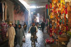 Inside the Medina, Marrakesh, Morocco, Africa royalty free stock images