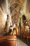 Inside of the medioeval cathedral of Grasse Stock Photos
