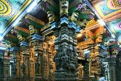 Inside of Meenakshi hindu temple in Madurai Royalty Free Stock Image