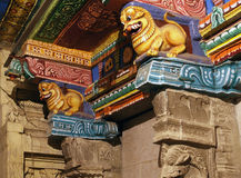 Inside of Meenakshi hindu temple in Madurai Stock Photography