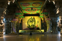 Inside of Meenakshi hindu temple in Madurai Royalty Free Stock Photos
