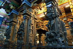 Inside of Meenakshi hindu temple in Madurai Stock Image