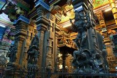 Inside of Meenakshi hindu temple in Madurai Stock Image