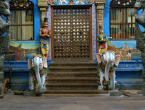 Inside of Meenakshi hindu temple in Madurai, India Royalty Free Stock Photo