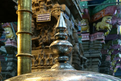 Inside of Meenakshi hindu temple in Madurai, India Royalty Free Stock Image