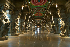 Inside of Meenakshi hindu temple in Madurai, India Stock Photo