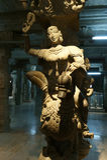 Inside of Meenakshi hindu temple in Madurai, India Royalty Free Stock Image