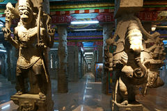 Inside of Meenakshi hindu temple in Madurai, India Royalty Free Stock Photos