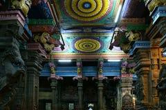 Inside of Meenakshi hindu temple in Madurai, India Stock Photography