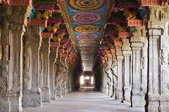 Inside Meenakshi temple. Inside of Meenakshi hindu temple in Madurai, Tamil Nadu, South India stock images