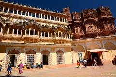 Inside the Mehrangarh Fort. Jodhpur. Rajasthan. India Stock Photo