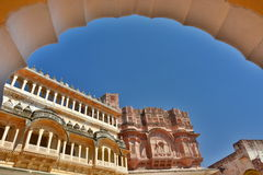 Inside the Mehrangarh Fort. Jodhpur. Rajasthan. India Royalty Free Stock Image