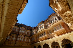 Inside the Mehrangarh Fort. Jodhpur. Rajasthan. India Royalty Free Stock Images