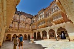 Inside the Mehrangarh Fort. Jodhpur. Rajasthan. India Royalty Free Stock Images