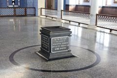 Inside the Memorial of Mahatma Gandhi, Kanyakumari Royalty Free Stock Image
