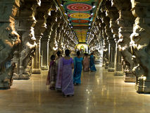 Inside the Menakshi Temple Madurai Stock Image
