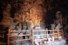 Inside mendut temple Royalty Free Stock Image