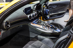 Inside of Mercedes AMG GTS Royalty Free Stock Photography