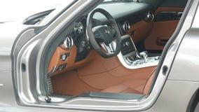 Inside of a Mercedes Benz SLS AMG 6.3 Stock Image