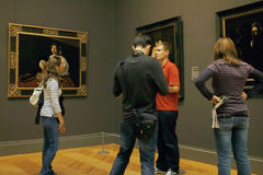 Inside the MET Art Gallery, New York City USA Royalty Free Stock Photo