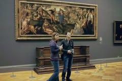 Inside the MET Art Gallery, New York City USA stock image