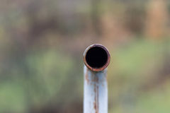 Inside metal pipe Royalty Free Stock Photos