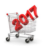 2017 inside metal shopping cart trolley Royalty Free Stock Photography