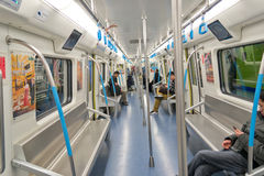 inside of metro royalty free stock photos