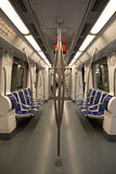 Inside of metro car Stock Image