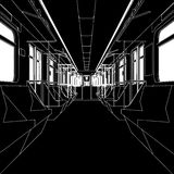 Inside Of Metro Train Wagon Vector 01 Stock Image