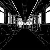 Inside Of Metro Train Wagon Vector 01 Stock Image