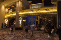 Inside of the MGM grand in Las Vegas, NV on August 06, 2013. LAS VEGAS - AUGUST 06, 2013 - MGM on August 06, 2013  in Las Vegas. The MGM Grand is the second Royalty Free Stock Photo