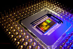 Inside a Microprocessor Stock Image