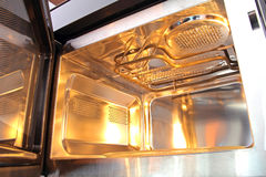 Inside microwave Royalty Free Stock Image