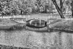 Inside Mikhailovsky Garden, idillic park in central St. Petersbu Stock Photos