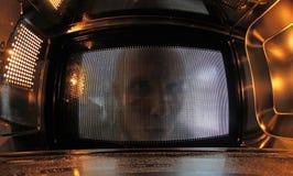 Inside mikrofala Obrazy Royalty Free
