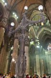 Inside Milan Cathedral Stock Photos