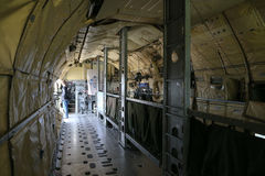 Inside of military helicopter Sikorsky CH-53 GA Royalty Free Stock Photography