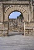 Inside the military house of Medina Azahara Stock Photos