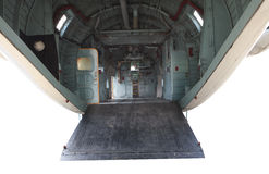 Inside of military plane Royalty Free Stock Images