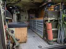 Inside a military vehicle Royalty Free Stock Photo