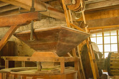 Inside the Mill in Springmill State Park in Indiana Royalty Free Stock Images