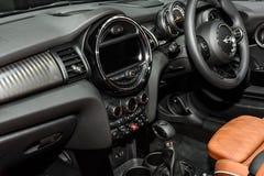 Inside of Mini Convertible car Stock Photos