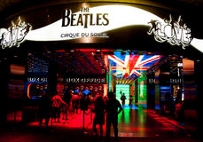 Inside of Mirage Hotel - The Beatles Stock Photos