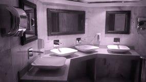 Inside modern bathroom Royalty Free Stock Photos