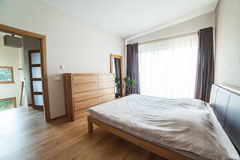 Inside modern bedroom Stock Image