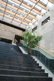 Inside modern building. Stairway in a hall inside a modern building Royalty Free Stock Photos
