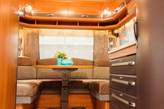 Inside of Modern Camper Stock Image