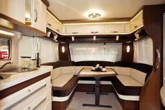 Inside of Modern Camper. A Inside of Modern Camper Royalty Free Stock Photo